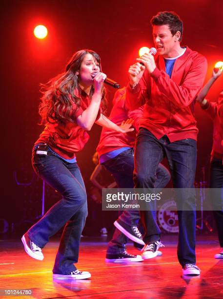 Lea Michele and Cory Monteith from the cast of Glee perform at Radio City Music Hall on May 28 2010 in New York City