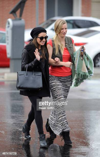 Lea Michele and Heather Morris are seen on February 06 2014 in Los Angeles California