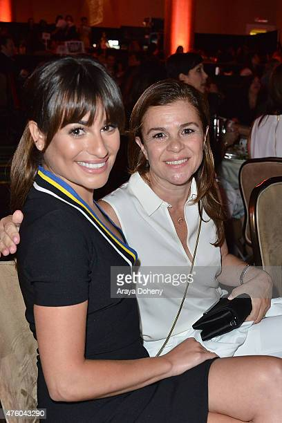 Lea Michele and her mother Edith Sarfati attend the Step Up Women's Network 12th Annual Inspiration Awards at The Beverly Hilton Hotel on June 5 2015...