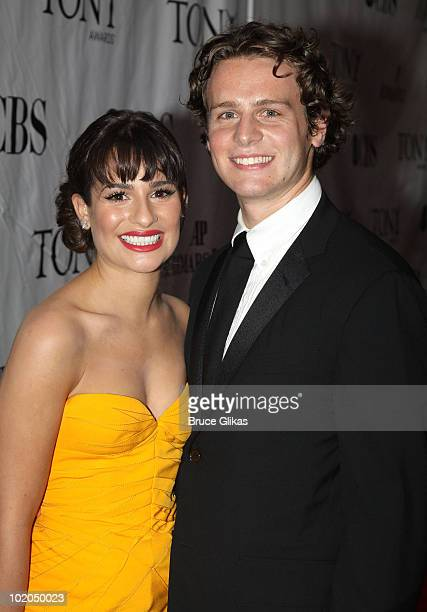 Lea Michele and Jonathan Groff attend the 64th Annual Tony Awards at Radio City Music Hall on June 13 2010 in New York City