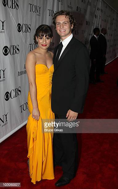Lea Michele and Jonathan Groff attend the 64th Annual Tony Awards at Radio City Music Hall on June 13, 2010 in New York City.