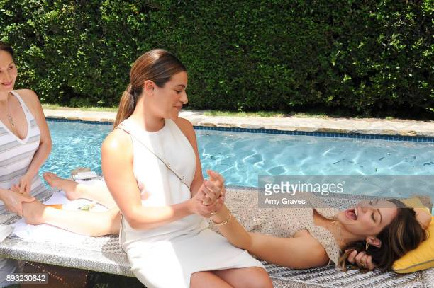 Lea Michele and Katharine McPhee attend the Jen Klein Day of Indulgence on August 13 2017 in Los Angeles California