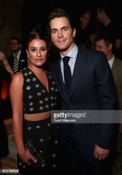 Lea Michele and Matt Bomer at the Amazon Prime Video premiere of the original drama series 'The Last Tycoon' at Harmony Gold Theatre on July 27 2017...
