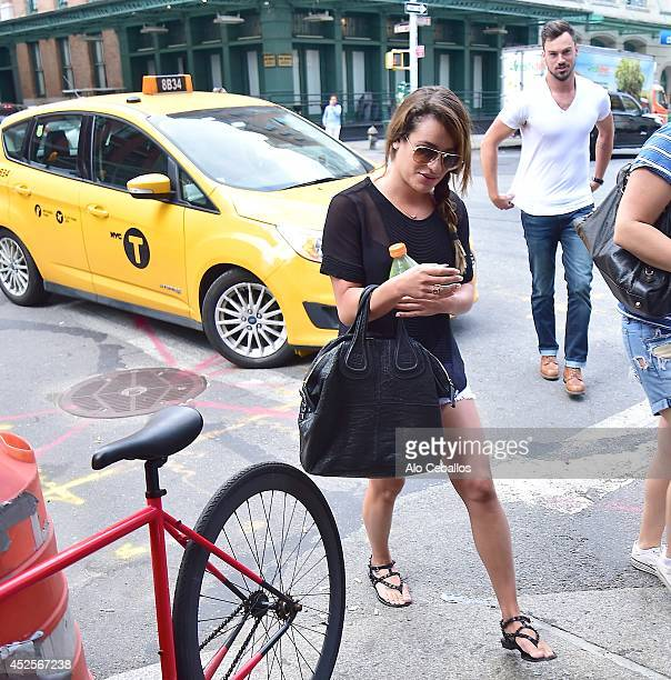 Lea Michele and Matthew Paetz are seen in Tribeca on July 23 2014 in New York City