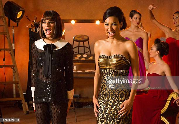 """Lea Michele and Naya Rivera in the """"Frenemies"""" Spring Premiere episode of GLEE airing Tuesday, Feb. 25, 2014 on FOX."""