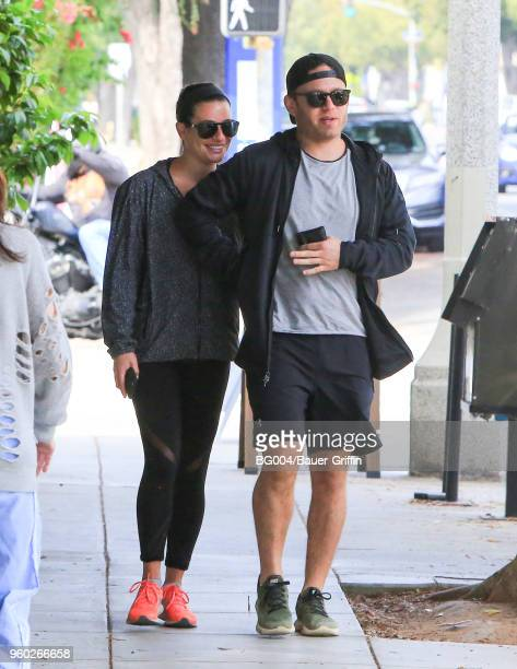 Lea Michele and Zandy Reich are seen on May 19, 2018 in Los Angeles, California.