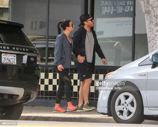 Lea Michele and Zandy Reich are seen on May 19 2018 in Los Angeles California
