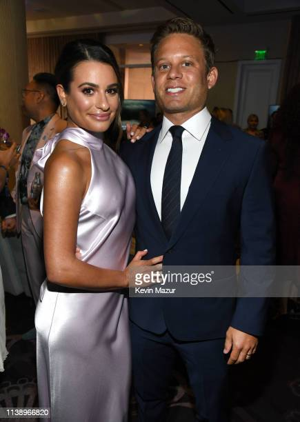 Lea Michele and Zandy Reich attend the 30th Annual GLAAD Media Awards Los Angeles at The Beverly Hilton Hotel on March 28 2019 in Beverly Hills...