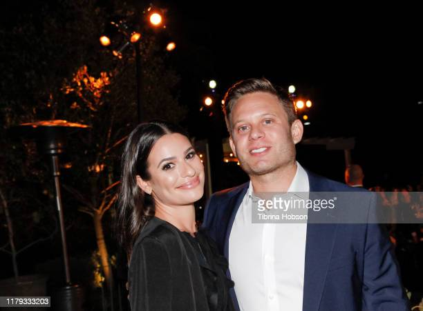 Lea Michele and Zandy Reich attend the Family Equality Los Angeles Impact Awards 2019 at a Private Residence on October 05 2019 in Los Angeles...
