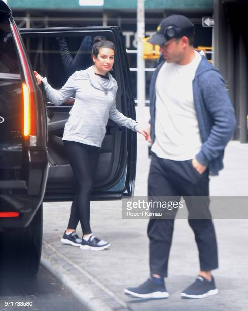 Lea Michele and Zandy Reich seen out and about in Manhattan on June 11 2018 in New York City