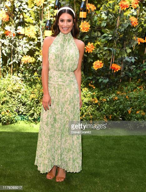 Lea Michele arrives at the 10th Annual Veuve Clicquot Polo Classic Los Angeles at Will Rogers State Historic Park on October 05, 2019 in Pacific...