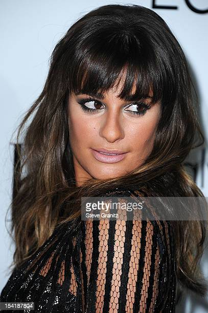 Lea Michele arrives at the 19th Annual ELLE Women In Hollywood Celebration at Four Seasons Hotel Los Angeles at Beverly Hills on October 15 2012 in...