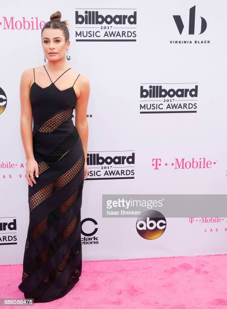 Lea Michele arrives at the 2017 Billboard Music Awards presented by Virginia Black at TMobile Arena on May 21 2017 in Las Vegas Nevada