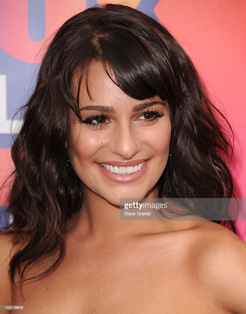Lea Michele arrives at the FOX 2010 Summer TCA All-Star Party on August 2, 2010 in Santa Monica, California. at Pacific Park .