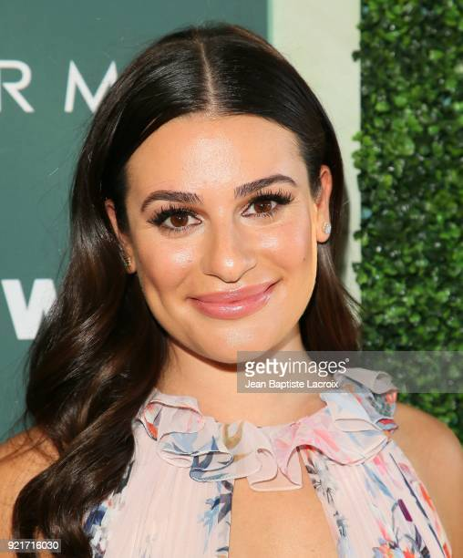 Lea Michele arrives to the Council of Fashion Designers of America luncheon held at Chateau Marmont on February 20 2018 in Los Angeles California