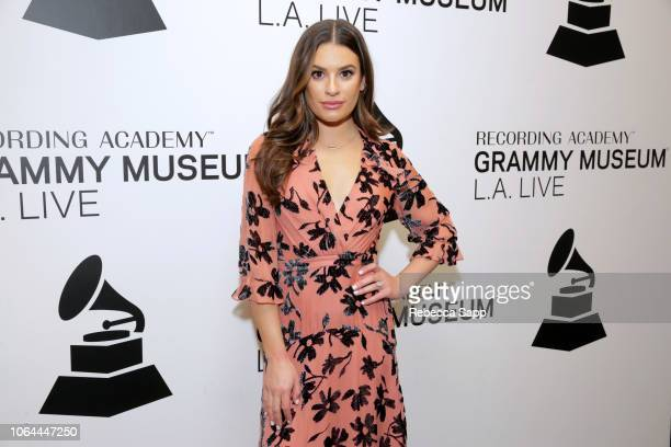 Lea Michele attends An Evening With Lea Michele at The GRAMMY Museum on November 06 2018 in Los Angeles California
