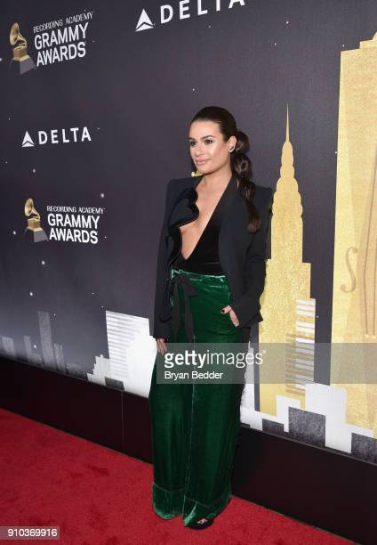 Lea Michele attends Delta Air Lines the Official Airline Partner of the GRAMMY Awards® and Supporter of FirstTime Nominees hosted a private...