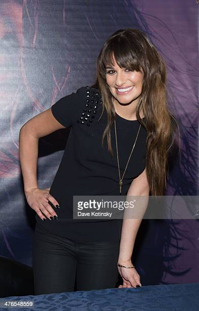 Lea Michele attends Louder CD signing event at Westfield Garden State Plaza Mall on March 3 2014 in Paramus New Jersey