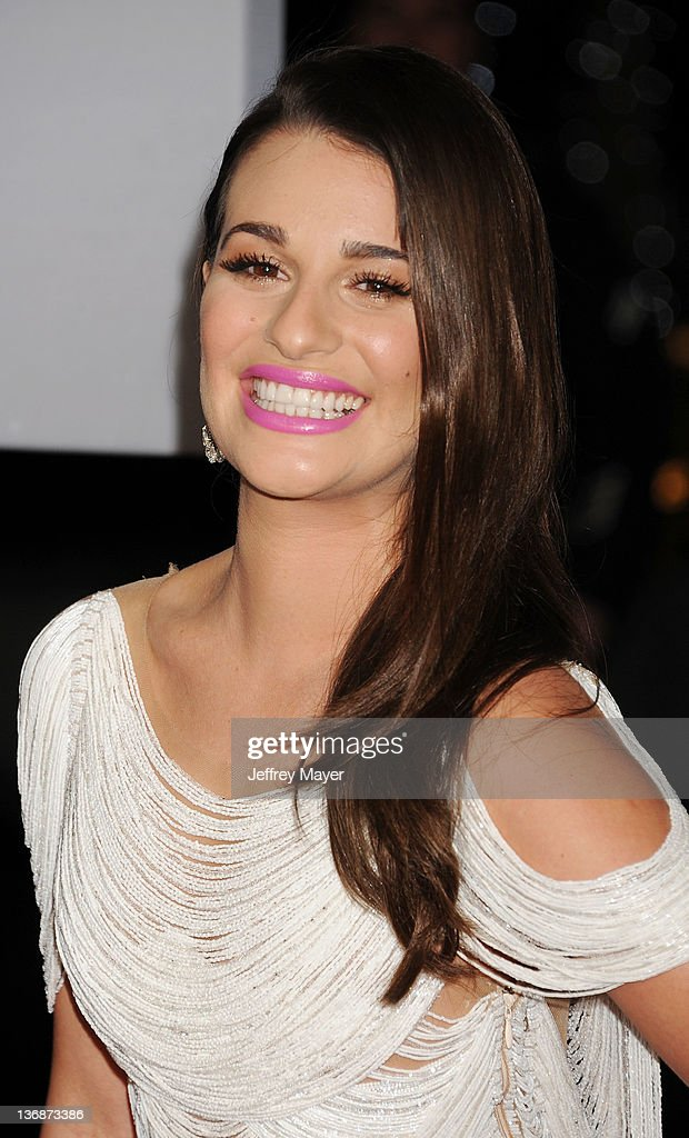 Lea Michele attends People's Choice Awards 2012 at Nokia Theatre LA Live on January 11, 2012 in Los Angeles, California.