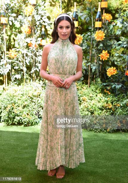 Lea Michele attends the 10th Annual Veuve Clicquot Polo Classic Los Angeles at Will Rogers State Historic Park on October 05 2019 in Pacific...