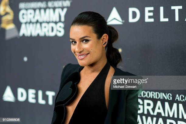 Lea Michele attends the 2018 Delta Air Lines Grammy weekend celebration at The Bowery Hotel on January 25 2018 in New York City