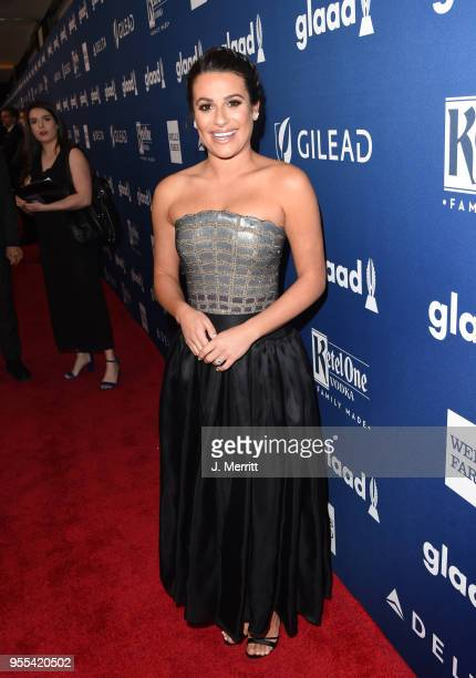 Lea Michele attends the 29th Annual GLAAD Media Awards at The Hilton Midtown on May 5 2018 in New York City