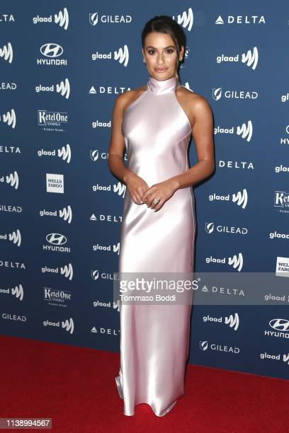 Lea Michele attends the 30th Annual GLAAD Media Awards at The Beverly Hilton Hotel on March 28, 2019 in Beverly Hills, California.