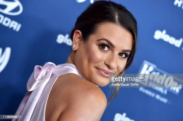 Lea Michele attends the 30th Annual GLAAD Media Awards at The Beverly Hilton Hotel on March 28 2019 in Beverly Hills California