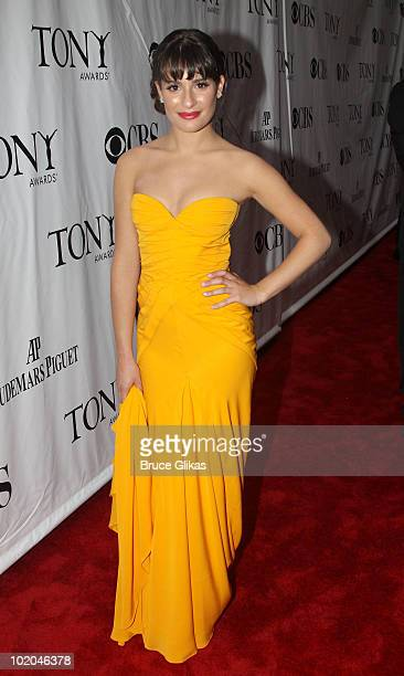 Lea Michele attends the 64th Annual Tony Awards at Radio City Music Hall on June 13, 2010 in New York City.
