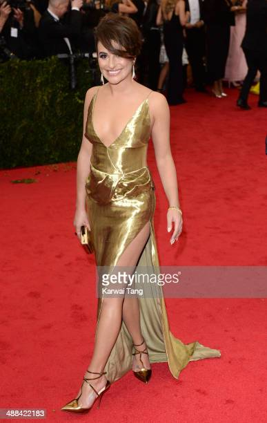 Lea Michele attends the Charles James Beyond Fashion Costume Institute Gala held at the Metropolitan Museum of Art on May 5 2014 in New York City