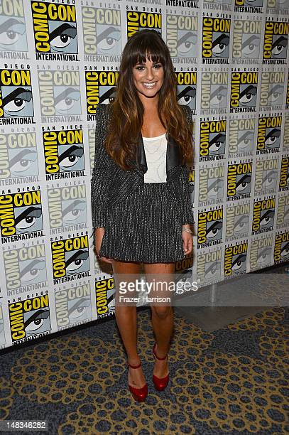 Lea Michele attends the GLEE Press Room during ComicCon International 2012 held at the Hilton San Diego Bayfront Hotel on July 14 2012 in San Diego...