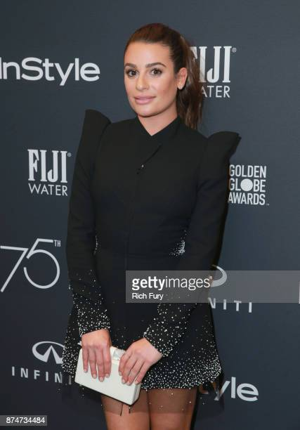 Lea Michele attends the Hollywood Foreign Press Association and InStyle celebrate the 75th Anniversary of The Golden Globe Awards at Catch LA on...