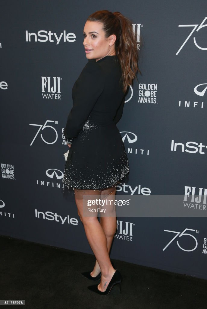 Lea Michele attends the Hollywood Foreign Press Association and InStyle celebrate the 75th Anniversary of The Golden Globe Awards at Catch LA on November 15, 2017 in West Hollywood, California.
