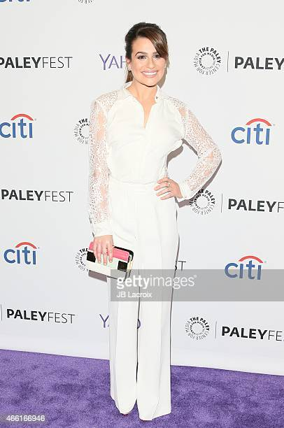 Lea Michele attends The Paley Center for Media's 32nd annual PALEYFEST LA 'Glee' at Dolby Theatre on March 13 2015 in Hollywood California
