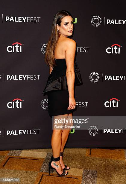 Lea Michele attends The Paley Center for Media's 33rd Annual PaleyFest Los Angeles Scream Queens at Dolby Theatre on March 12 2016 in Hollywood...