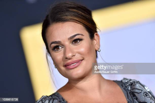 Lea Michele attends the premiere of Warner Bros. Pictures' 'A Star Is Born' at The Shrine Auditorium on September 24, 2018 in Los Angeles, California.