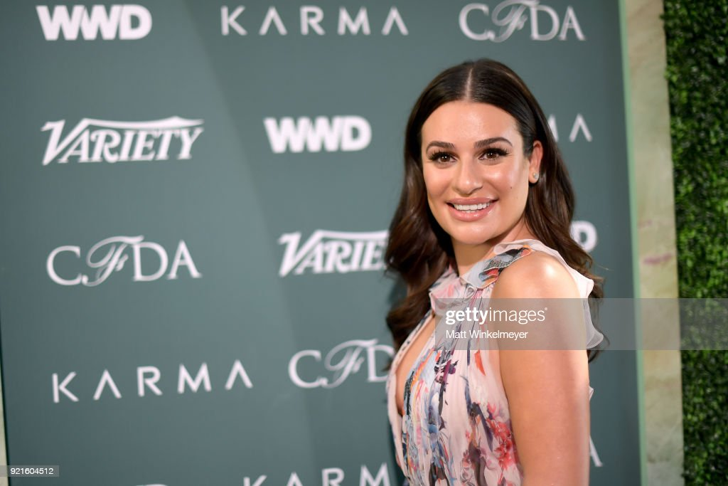 Lea Michele attends the Runway To Red Carpet, hosted by Council of Fashion Designers of America, Variety and WWD at Chateau Marmont on February 20, 2018 in Los Angeles, California.