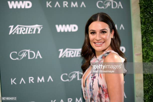 Lea Michele attends the Runway To Red Carpet hosted by Council of Fashion Designers of America Variety and WWD at Chateau Marmont on February 20 2018...