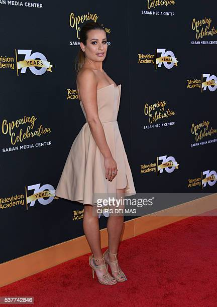 Lea Michele attends the Television Academy 70th Anniversary Celebration in Los Angeles California on June 2 2016 / AFP / CHRIS DELMAS