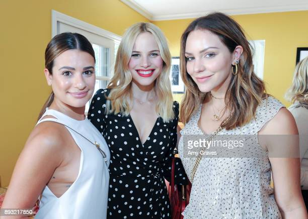 Lea Michele Halston Sage and Katharine McPhee attend the Jen Klein Day of Indulgence on August 13 2017 in Los Angeles California