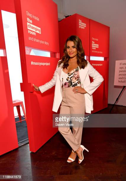 "Lea Michele headlined TJMaxx's ""The Changing Room"" Popup Event as part of the Maxx You Project – a program encouraging women to embrace their..."