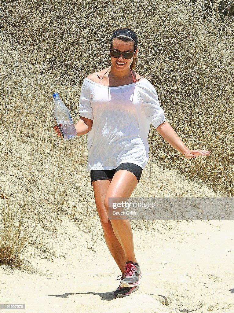 Lea Michele is seen in Los Angeles on July 02, 2014 in Los Angeles, California.