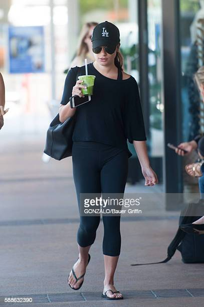 Lea Michele is seen on August 11 2016 in Los Angeles California