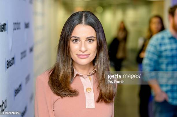 Lea Michele performs at SiriusXM Studios on December 05, 2019 in New York City.