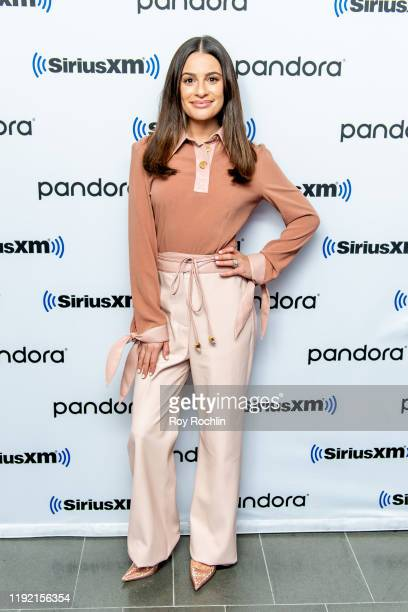 Lea Michele performs at SiriusXM Studios on December 05 2019 in New York City