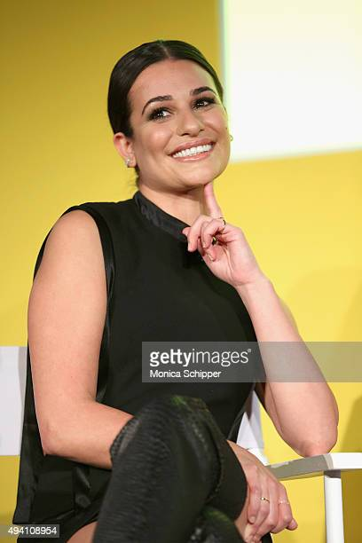 Lea Michele speaks onstage during Entertainment Weekly's first ever 'EW Fest' presented by LG OLED TV on October 24 2015 in New York City