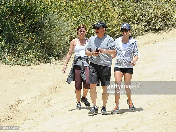 Lea Michele with her parents Marc Sarfati and Edith Sarfati are seen on May 09 2014 in Los Angeles California