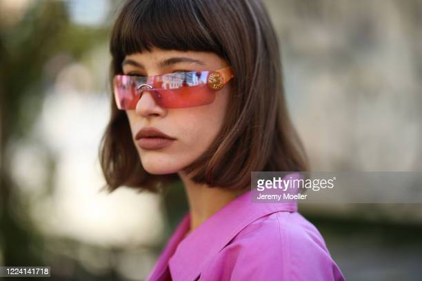 Lea Neumann wearing Dior vintages shades on May 06, 2020 in Berlin, Germany.
