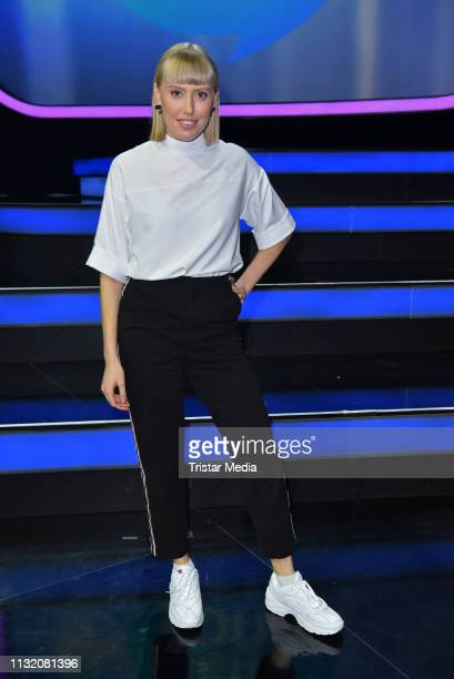 Lea poses during a photocall after the finals of the KIKA / ZDF television competition 'Dein Song 2019' at MMC Studios on March 22 2019 in Cologne...