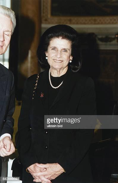 Lea Rabin, die Witwe des ermordeten israelischen Ministerpräsidenten Yitzhak Rabin, zu Besuch in Hamburg. .